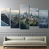 HCHD Cartel Moderno de la Lona representa Arte de la Pared del Panel 5 de película de Star Wars for...