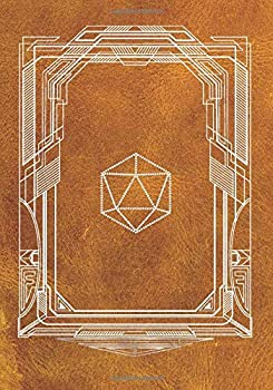 Paperback RPG Journal For Dungeon Master And Role Playing Games, MIXED PAPER   RULED   GRAPH   HEX   120 PAGES: Notes, tracking, mapping, terrain plans   Vintage Deco D20 Dice Cover   Red Cover Book