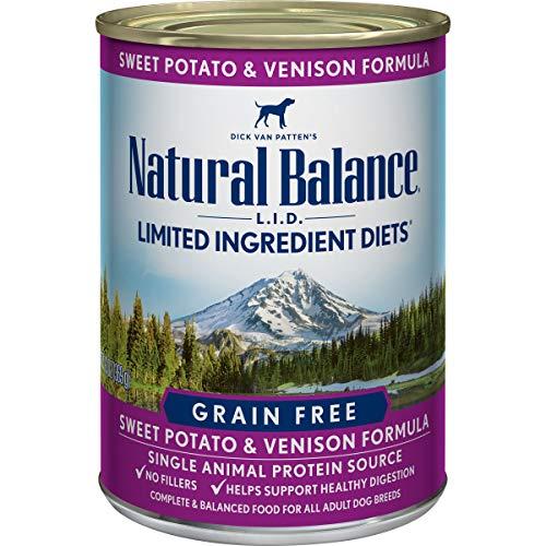 ナチュラルバランススウィートポテト&ベニソンドッグ缶鹿肉犬13オンス(369g)
