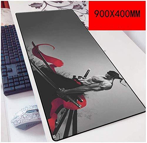 JSDHLH Alfombrilla de Ratón One Piece Speed Gaming Mouse Pad |XXL Mousepad |Tamaño de 900 x 400 mm |Base de 3 mm de Grosor | Precisión y Velocidad, F