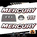 Generico Four Stroke EFI Orion - Kit de adhesivos para motor marino fuera de borda Mercury 115 CV