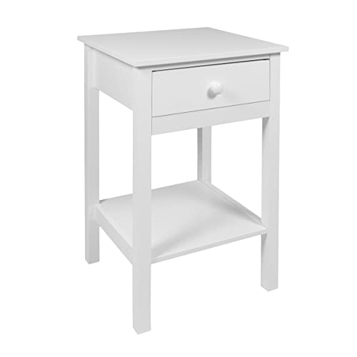 Etonnant Woodluv Bedside Drawer With Shelf Cabinet Side Table Storage Unit, Wood  White, 40x30x60 Cm