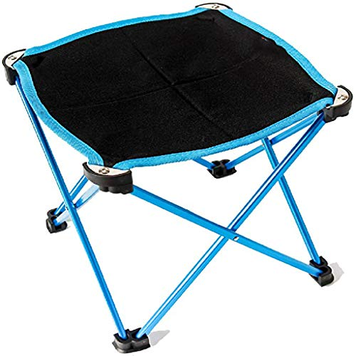 PBTRM Klappbarer Sitzhocker,Camping Klapphocker Tragbarer Outdoor Fauler Stool Für Camping Angeln Reisen Wandern Strand,Blau
