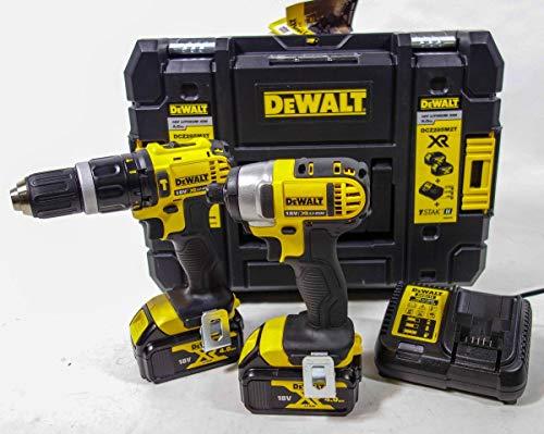 Dewalt DCZ285M2T 18v Lion DCD785 2 Speed Combi Drill & DCF885 Impact Driver