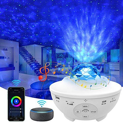 totobay WIFI スマート 4in1スタープロジェクター プラネタリウム ベッドサイドランプ Bluetooth スピーカ...