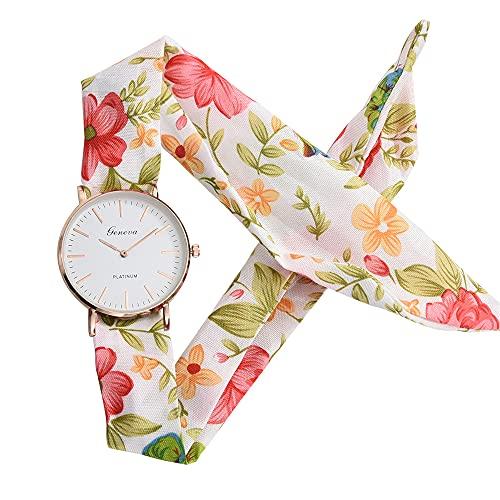 KLFJFD Reloj De Cuarzo Resistente Al Agua con Flores Frescas Y Pequeñas A La Moda para Mujer, Reloj De Moda para Regalo De Cumpleaños De Estilo Pastoral Informal para Niñas