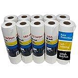Reli. Masking Film, 10 Rolls Bulk (90' x 72') - Masking Plastic Film for Painting, Automotive - Hand- Masker Film Plastic (10 Pack)