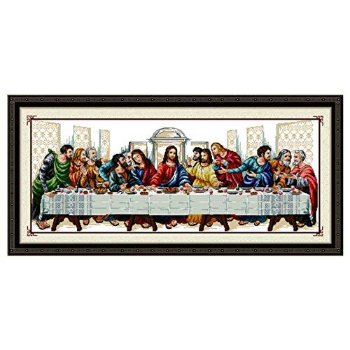 DIY Needlework handgemachte Kreuzstich Kit Stickerei gedruckt Jesus Christus-Kreuz-Stitching Last Supper Home Decor Handgemachte Kreuzstich