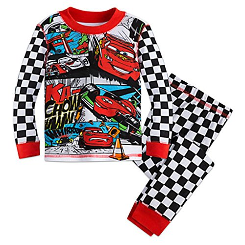 Disney Cars Boy's Size 5 Lightning McQueen Cotton Pajama Pants Set