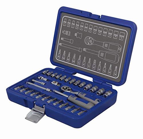 Michelin 602010070 Steckschlüsselsatz, Nusskasten, Ratschenkasten Set