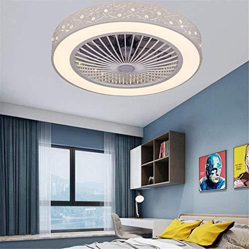 Lámpara de techo Ventilador de techo con iluminación LED y la tranquilidad de control remoto ventilador de techo invisible creativas aficionados Iluminación de la sala de estar Dormitorio