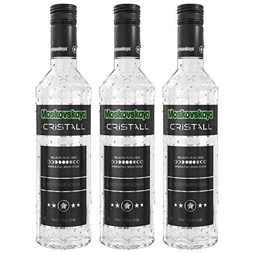 Moskovskaya Cristall Superior Vodka (3 x 0.5 l)