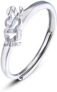 lem Abrillantador de anillosAnillos de Plata eternos con Dedo para Mujer