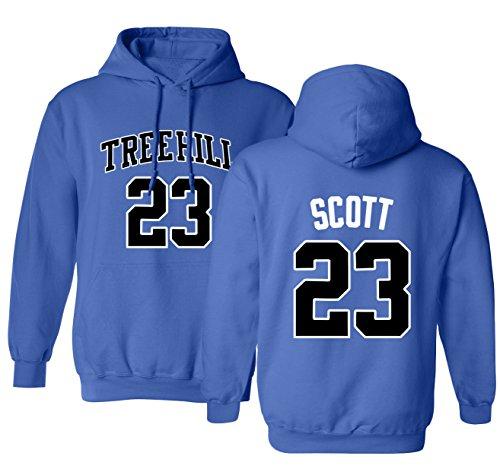 KINGS SPORTS Ravens Basketball Movie #23 Nathan Scott One Tree Hill Jersey Style Youth Boys Girls Hoodie Sweatshirt (Royal,YL)