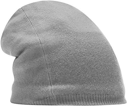 CODELLO STRICKMÜTZE Beanie aus Kaschmir lila grau schwarz 82068102 (Grau)