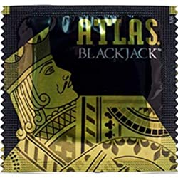 commercial Lunamax Silver Pocket Lubricated Latex Atlas Blackjack with Condoms for Special Occasions – 24 Pieces. atlas studded condoms