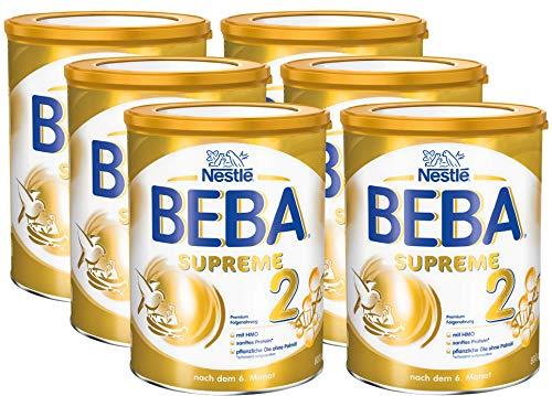 Nestlé BEBA SUPREME 2 Folgenahrung: nach dem 6. Monat, Pulver, im Anschluss an das Stillen, 6er Pack (6 x 800g)