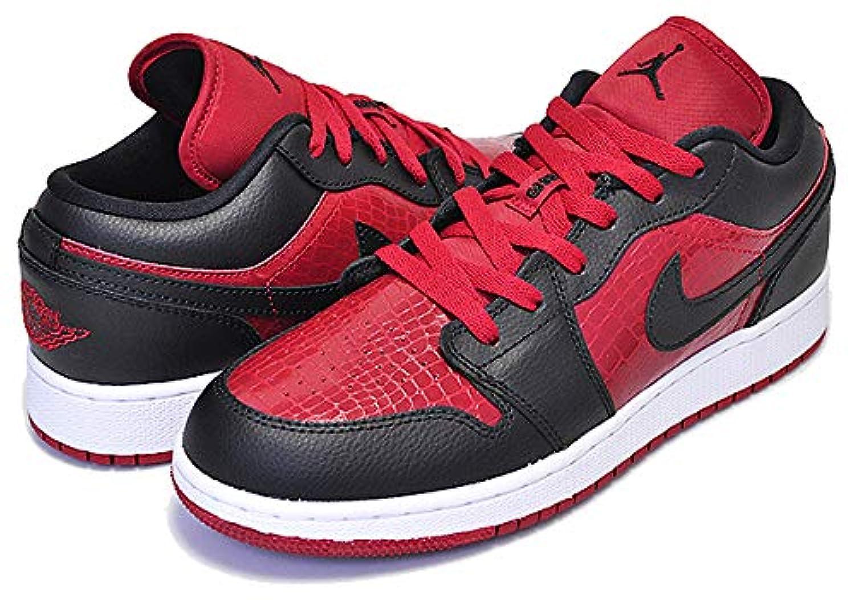 [ナイキ] エアジョーダン 1 レディース AIR JORDAN 1 LOW(GS) gym red/black-white スニーカー ウィメンズ ガールズ ローカット BRED AJ [並行輸入品]