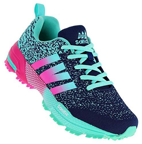 Sandic 981 Neon Turnschuhe Sneaker Sportschuhe Damen, Schuhgröße:38