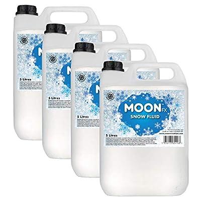 MoonFX Professional Snow Fluid 20L (4 x 5 Litres) - Pro Snow Fluid that produces fluffy white foam based snow flakes