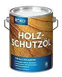 ROKO Holzschutzöl - 3 Liter - Farblos - Premium Holzöl für alle Holzarten - Dauerhafter Schutz für Außen und Innen