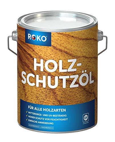 ROKO Holzschutzöl - 1 Liter - Farblos -...