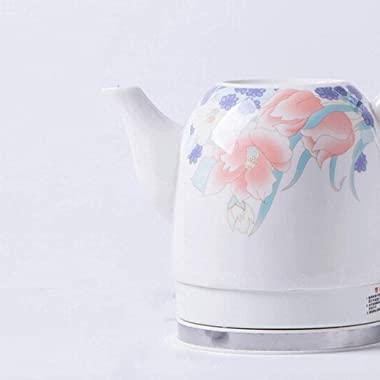 Electric Kettle Ceramic Cordless Water Teapot 1.2Liter Automatic Power Off Fast Boiling Nordic Vintage Style