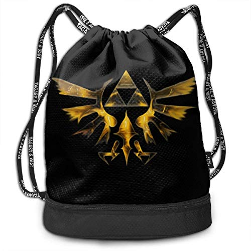 Mochila, Bolsa de Deporte, Bolsa de Deporte, Mochila de día, The Legend of Zelda Wind Waker HD Drawstring Bag Bundle Backpack Traveler Backpack for Teens College