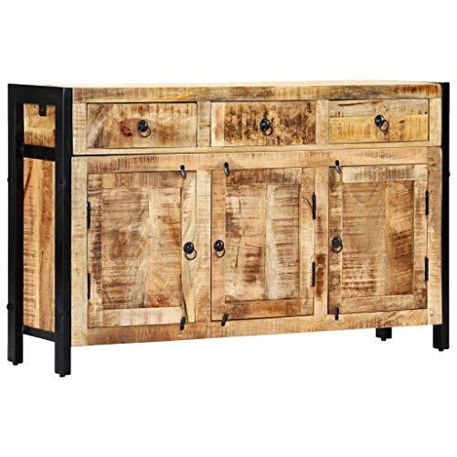 vidaXL Mango Aparador Comedor 3 Puertas + 3 Cajones Madera Maciza Mueble Buffet Salón Cocina Diseño Estilo Rústico Armario Auxiliar Bufé Cómoda Sala