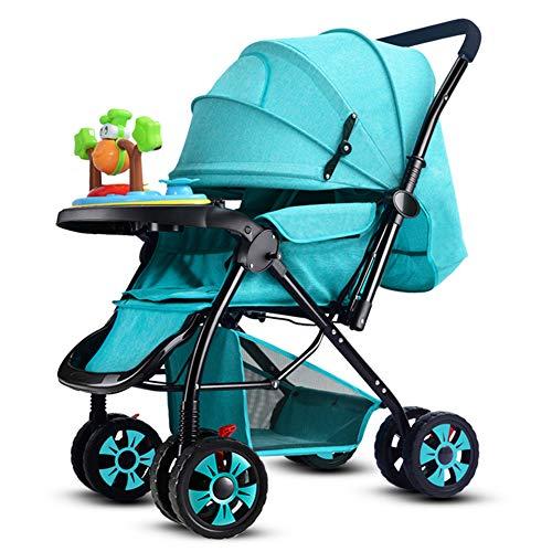 Poussette canne légère, Ultra compacte Pliable Landau bébé,Parapluie pour poussettes, siège inclinable/auvent surdimensionné, du bébé au bébé 0-3 Ans Poids 25kg / 55lb