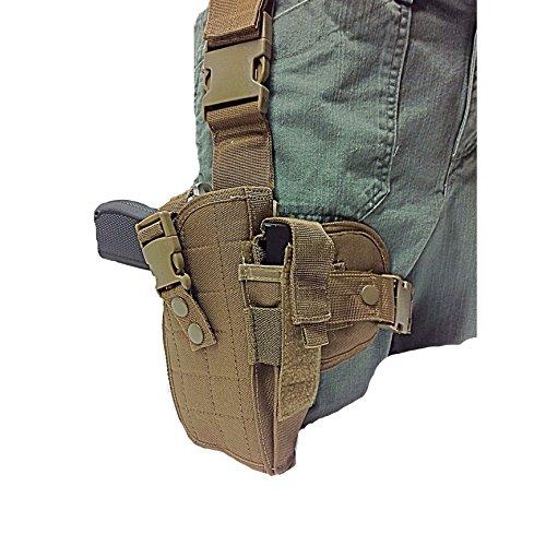 Coyote Tan Tactical Leg Holster fits Beretta 92,96.40 S&W, U22 Neos 22LR