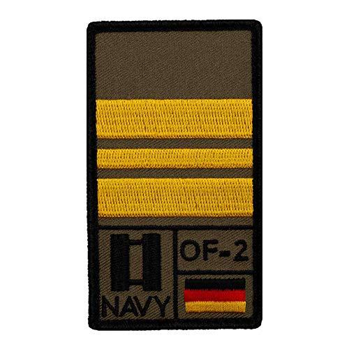 Café Viereck ® Kapitänleutnant Marine Bundeswehr Rank Patch mit Dienstgrad - Gestickt mit Klett – 9,8 cm x 5,6 cm