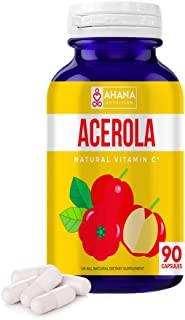Acerola Capsules by Ahana Nutrition – Acerola Cherry Rich in Vitamin C Aids in Immune Support, Digestive Health, Gut Healt...