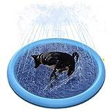 "Jutongda Splash Sprinkler Pad for Dogs and Kids,60"" Inflatable Thickened Durable Sprinkler Pool"