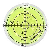 Level Bubble, 60mm Diameter High Precision Bullseye Bubble Spirit Level...