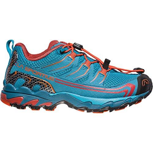 La Sportiva Falkon Low 36-40, Zapatillas de Senderismo Unisex Adulto, Multicolor (Tropic Blue/Tangerine 000), 39 EU