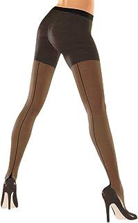 Pariser-Mode Strumpfhose 40 DEN mit schwarzer Naht und Hochferse