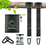 Tree Swing Straps, Portable Tree Swing Straps Hanging Kit Holds up 2800lbs, High-Strengthened Nylon Swing Hangers for Trees with Two Safer Flat Carabiners