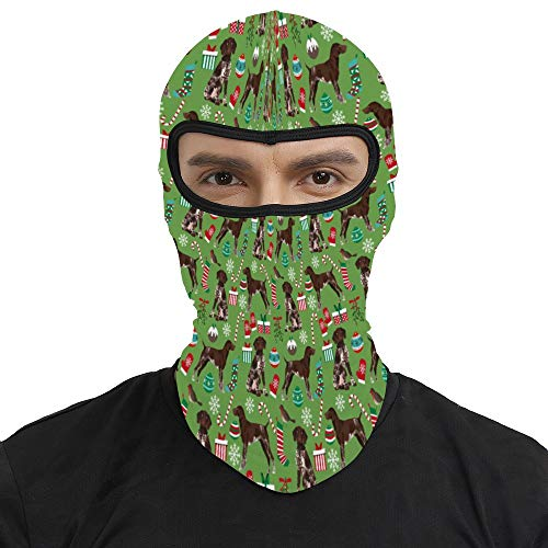 Summer Balaclava Ski Mask -German Shorthaired Pointer Dogs, Men & Women Wind-Resistant Thermal Ninja Mask Headwear Durable Neck Gaiter Protection for Motorcycle Cycling Hunting