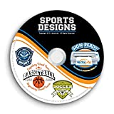 Sports Designs Clipart-Vector Clip Art Images-T-Shirt Graphics and Template CD