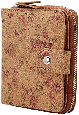 Vegan Cork Wallet Boshiho Women s Purse Slim Zipper Design with Card Holder Coin Pocket Purse product image