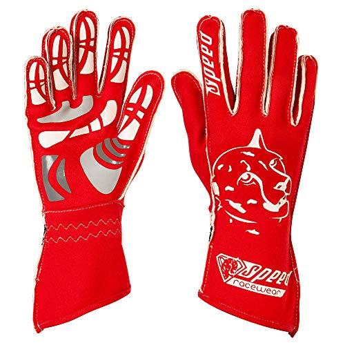 Speed Racewear - Motorsport Handschuhe - Karthandschuhe Melbourne - Rot/weiß (8)