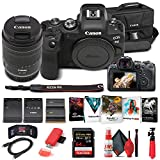Canon EOS R6 Mirrorless Digital Camera with 24-105mm f/4-7.1 Lens (4082C022) + 64GB Memory Card + Case + Corel Photo Software + LPE6 Battery + External Charger + Card Reader + More (Renewed)