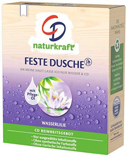 CD Feste Dusche 'Wasserlilie', 2 x 75 g, mit Kokosöl, nachhaltiges Pflegeprodukt für empfindliche Haut, ohne Mikroplastik, vegan und tierversuchsfrei