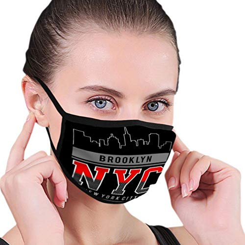 Mouth Shield Brooklyn New York City Print Brooklyn New York City Face Scarf Face Protection Personalized Gift Anime Outdoor Unique Adjustable Outdoor Cycling Reusable Windproof Hi