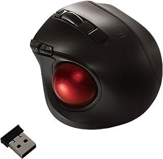 Digio2 Q 小型 トラックボール 2.4GHz ワイヤレスマウス 静音 5ボタン ブラック 48358