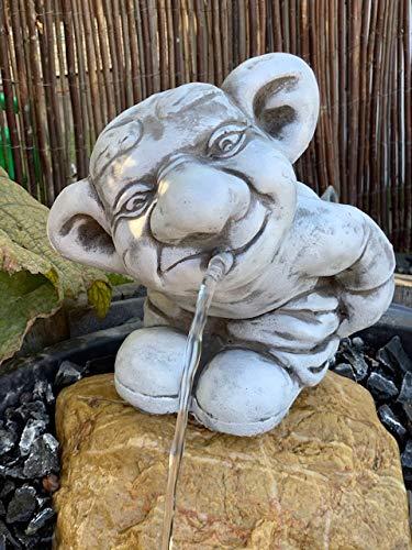 Wasserspeier Troll Frostfeste Steinfigur für Brunnen -Teich W4