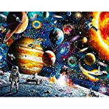 5D DIY Diamond Painting Landscape Space Planet Space Diamond Embroidery Set Diamond Mosaic Picture Mural A5 45x60cm