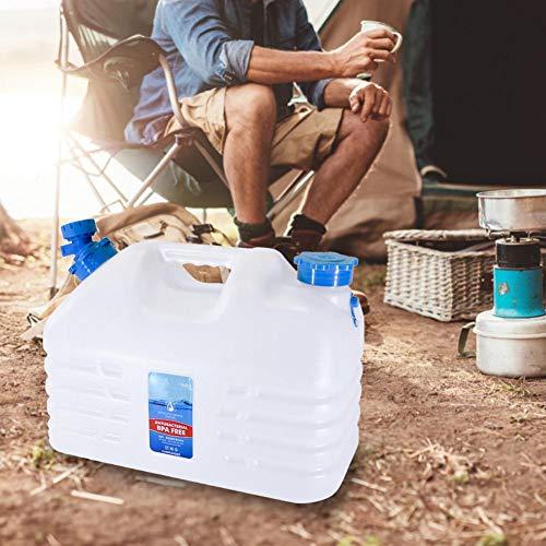 wenhe - Contenedor de agua para exterior, con grifo, cantimplora portátil, bidón de agua con asa, jarra con tubo de agua y capuchón, cubo de camping para viajes en coche en casa