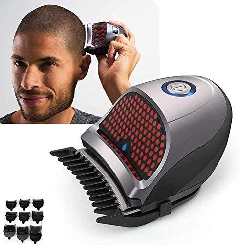 Pelo tijeras de la herramienta de corte 9 peines de acceso directo de auto-corte de pelo del kit Hair Clippers Clippers inalámbricos profesionales del condensador de ajuste del pelo de la barba Máquin